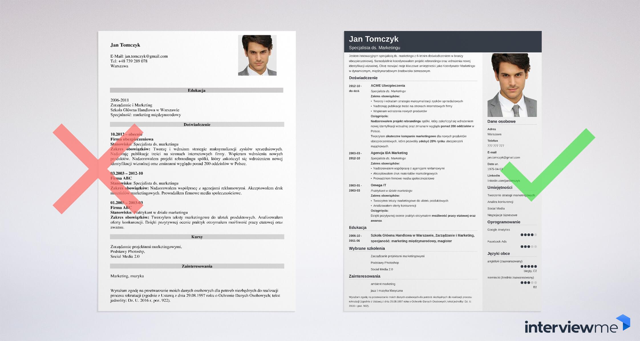 Stwórz swoje CV teraz.