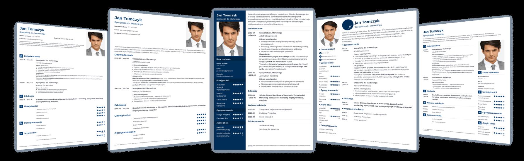 CV kreator z profesjonalnymi szablonami