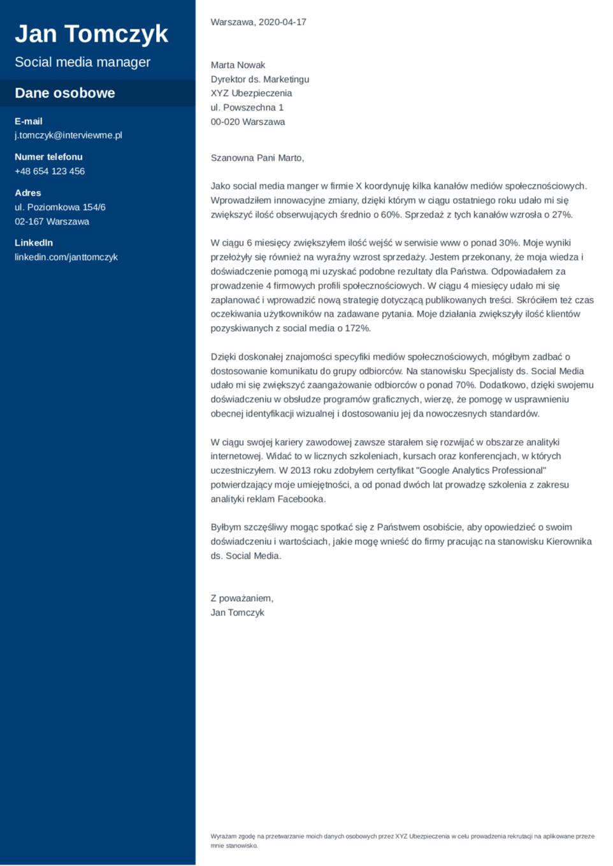 List motywacyjny szablon Cascade