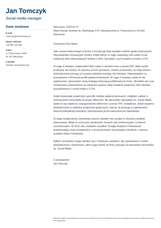 List motywacyjny szablon Muse