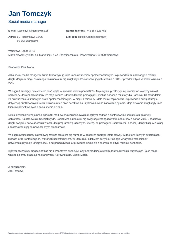 List motywacyjny szablon Nanica