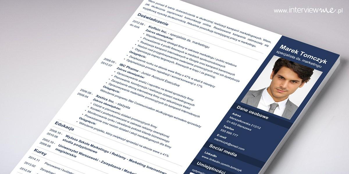 dodaj sekcje referencje w CV