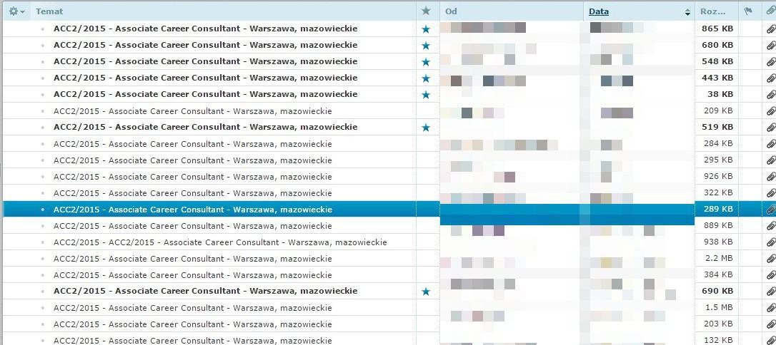 mail z cv - przykład