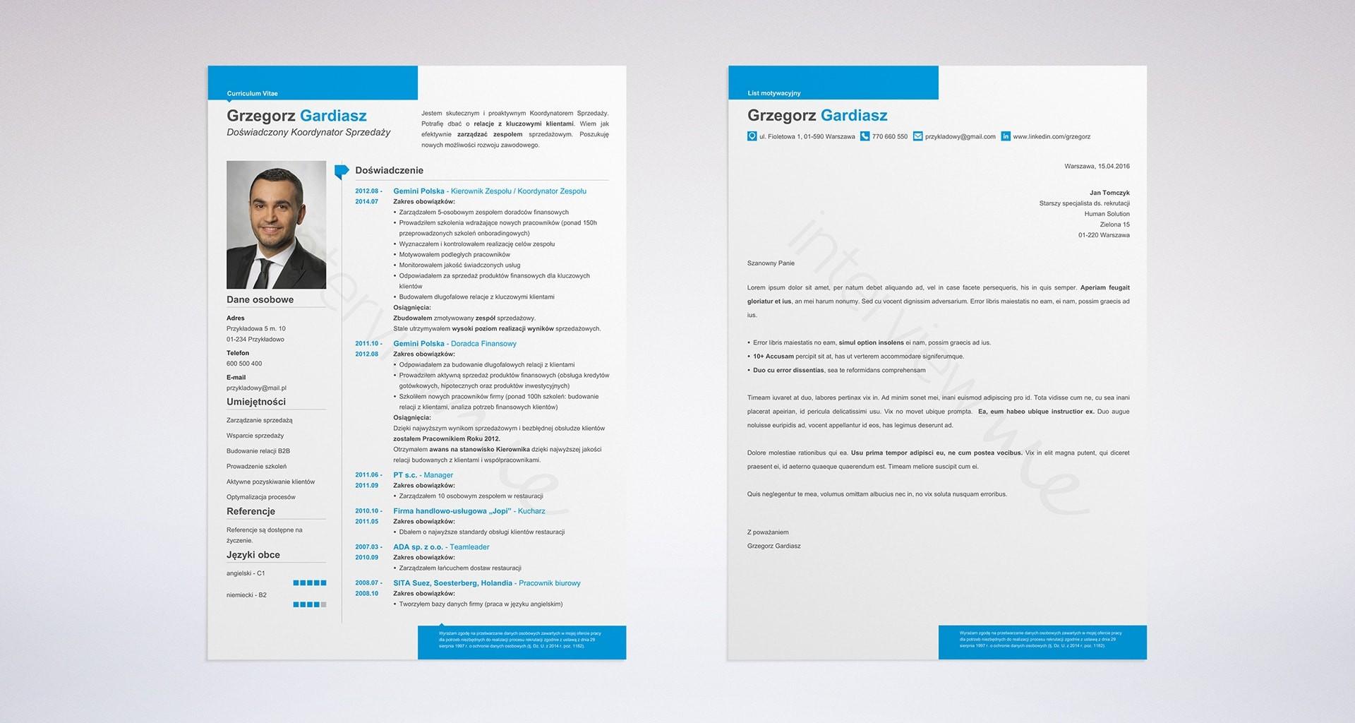 Szybki kreator listu motywacyjnego - szablony do wypełnienia (Online)