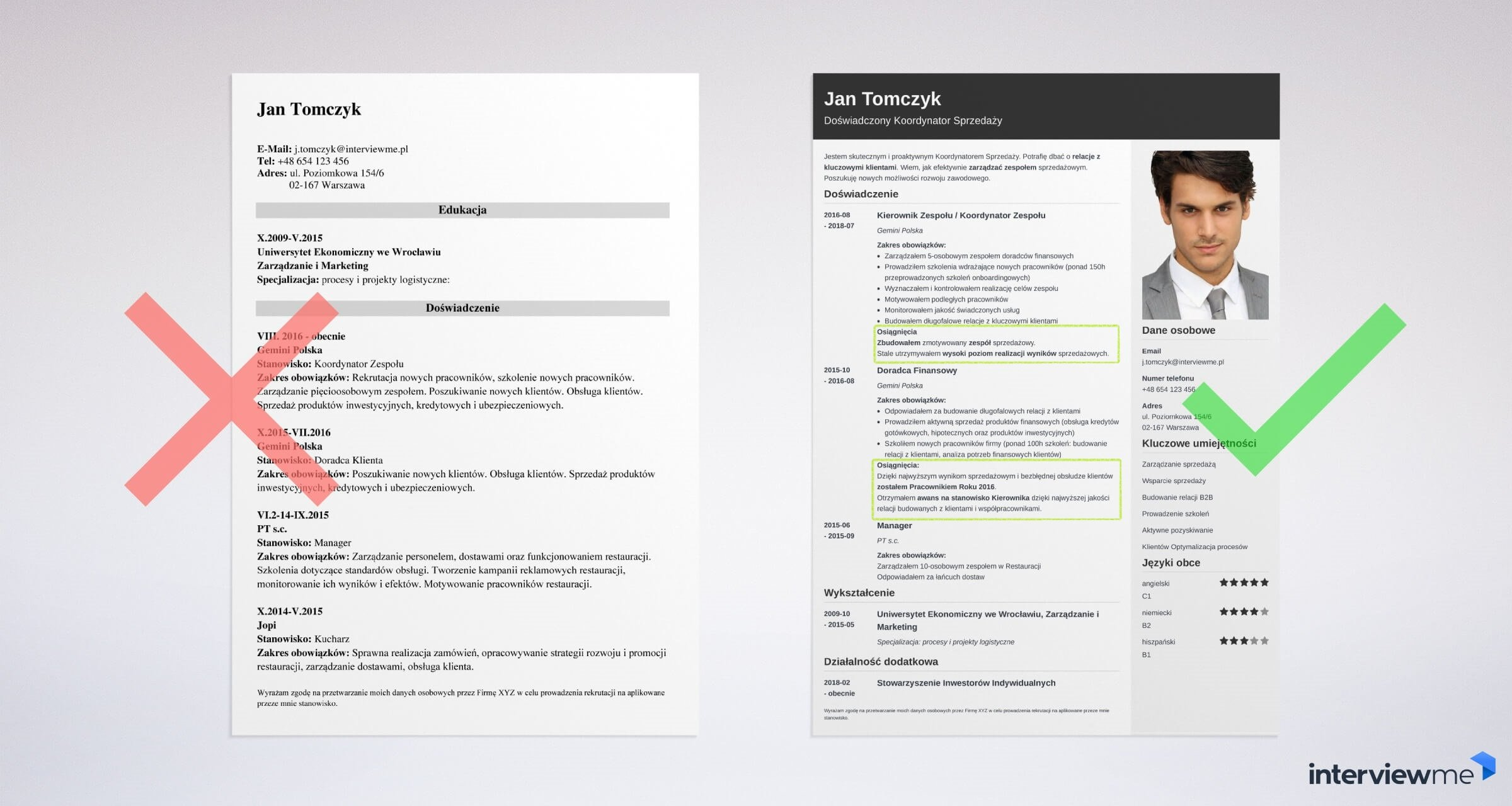 Profil zawodowy wzór