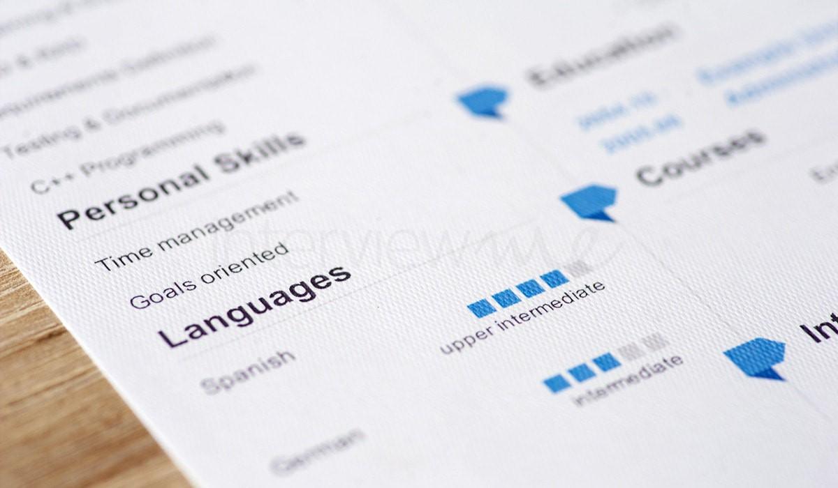 list motywacyjny i CV po angielsku - przykład