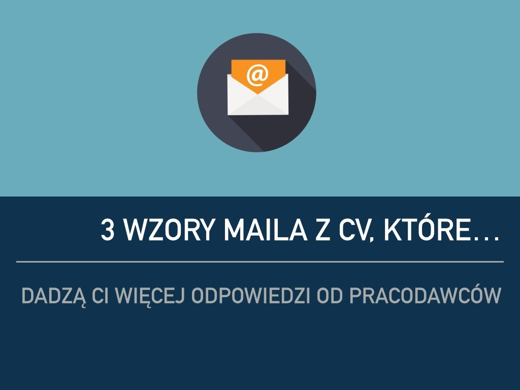 wzory maila z CV