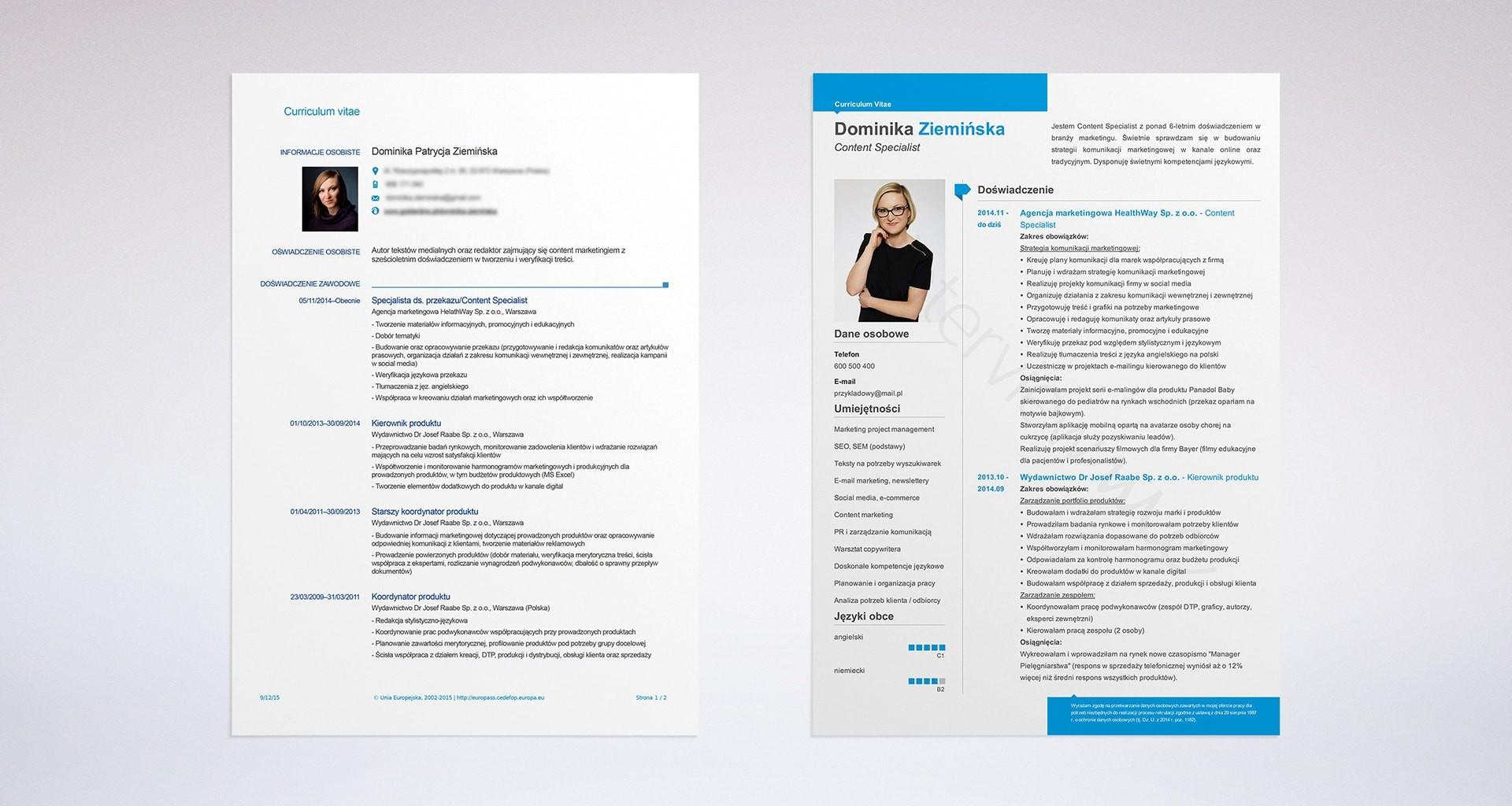 Przykłady CV, które zapewniły tym 12 kandydatom pracę