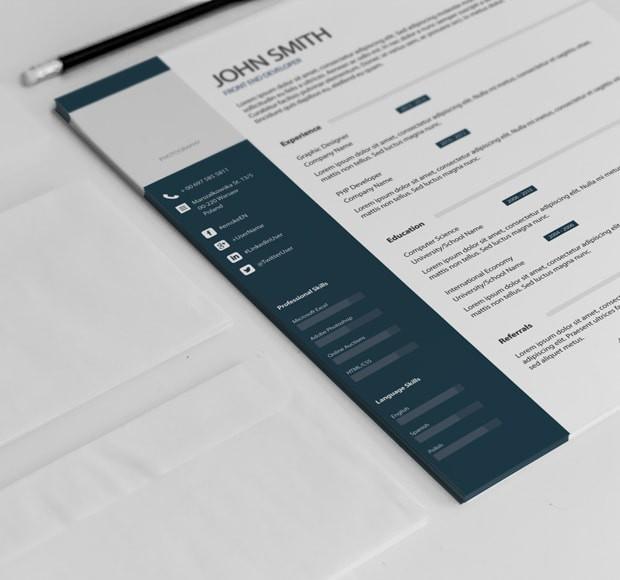 klasyczny szablon CV do pobrania z infografikami