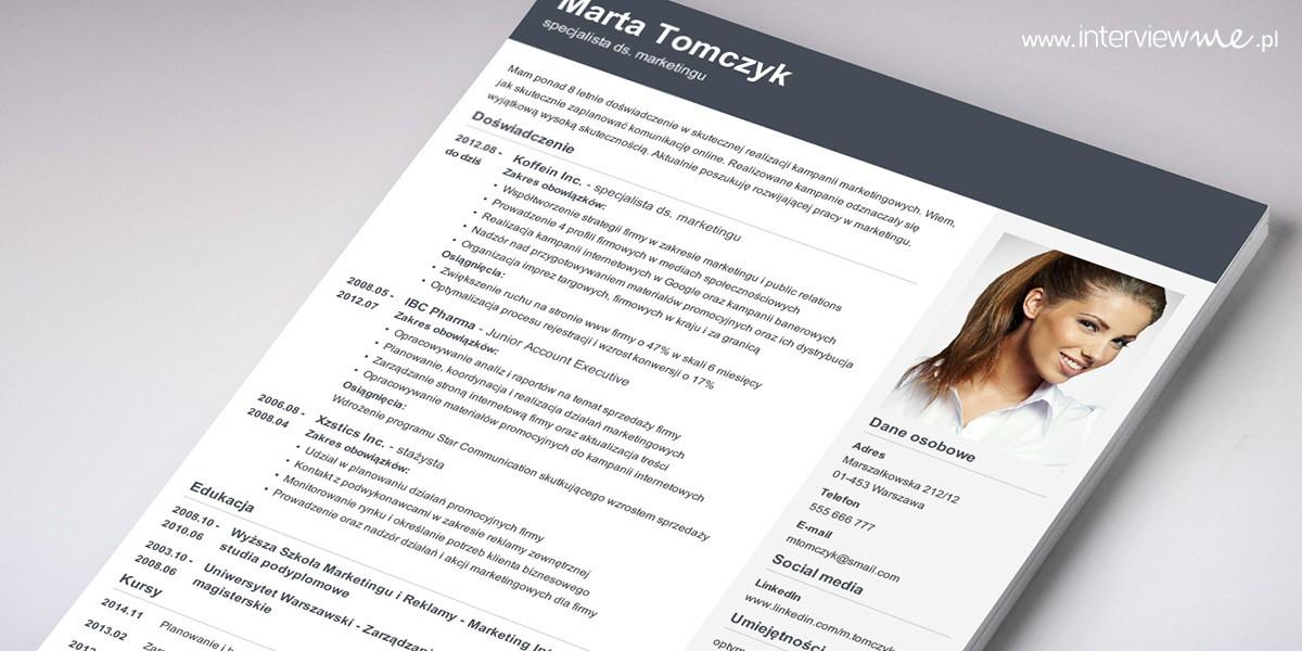 Jak powinno wyglądać CV i co zawierać - 8 wzorów i przykłady