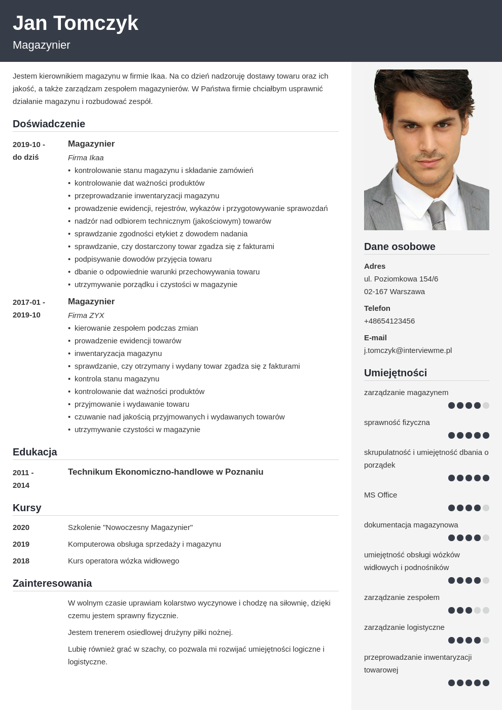 curriculum vitae 8 zbednych elementow template cubic