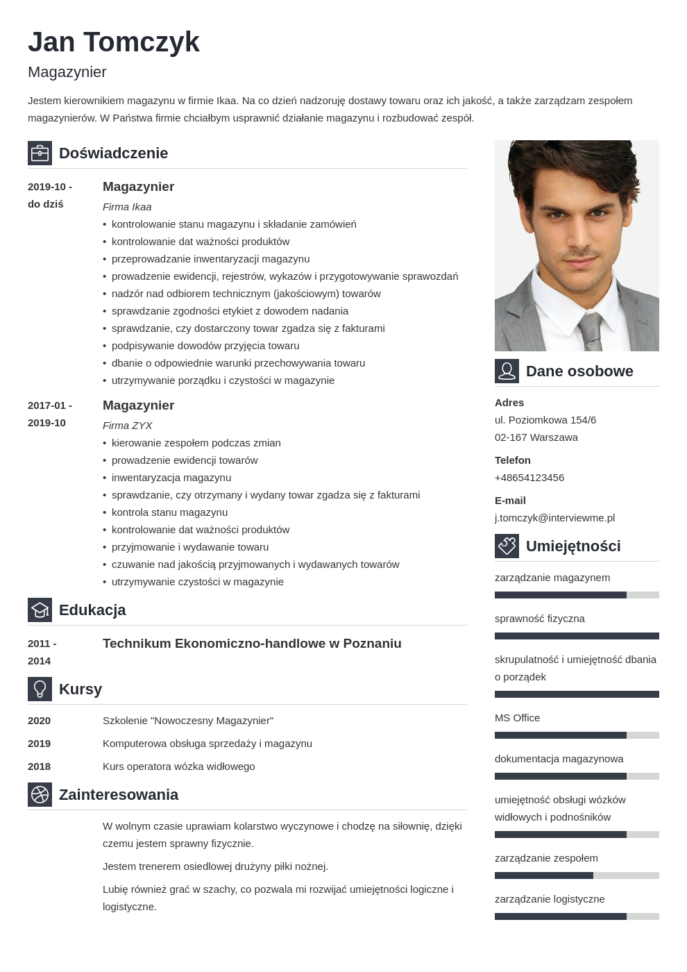 curriculum vitae 8 zbednych elementow template vibes