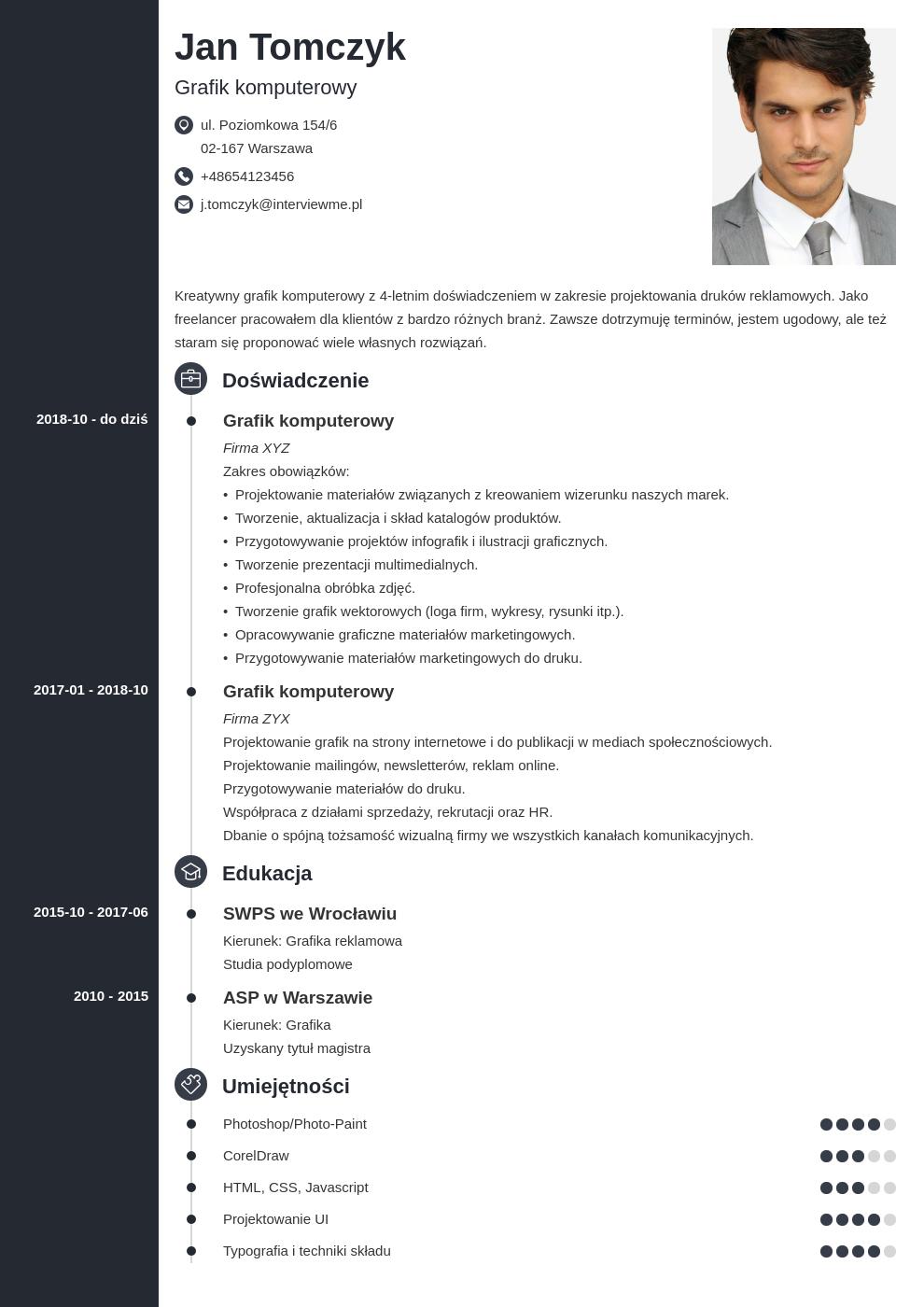 dobre cv wedlug 24 ekspertow template concept