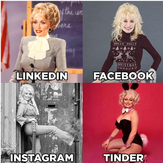 Dolly Parton Challenge - mem LinkedIn, Facebook, Instagram, Tinder