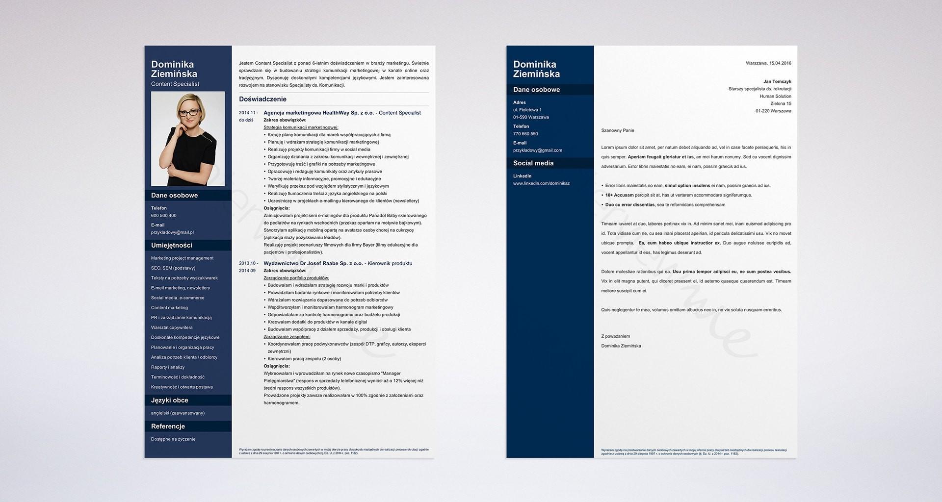 klauzula do CV na szablonie Cv