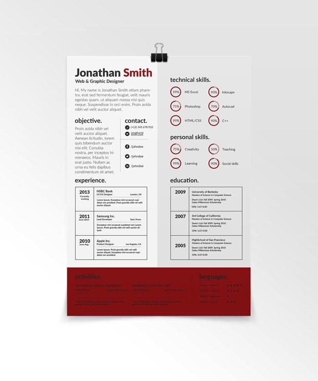 szablon CV do pobrania z tabelami