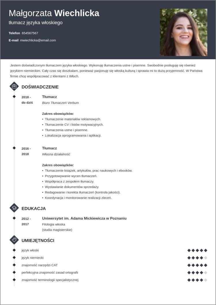 idealne cv dla specjalisty i managera