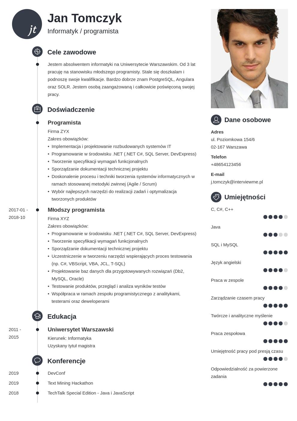 list motywacyjny cv informatyk template primo