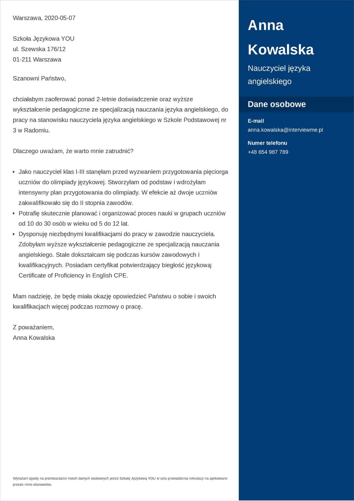 List Motywacyjny Wzor I 50 Przykladowych Listow Do Pracy