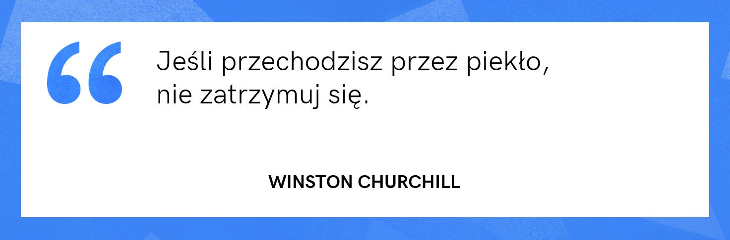 cytat motywacyjny - Winston Churchill