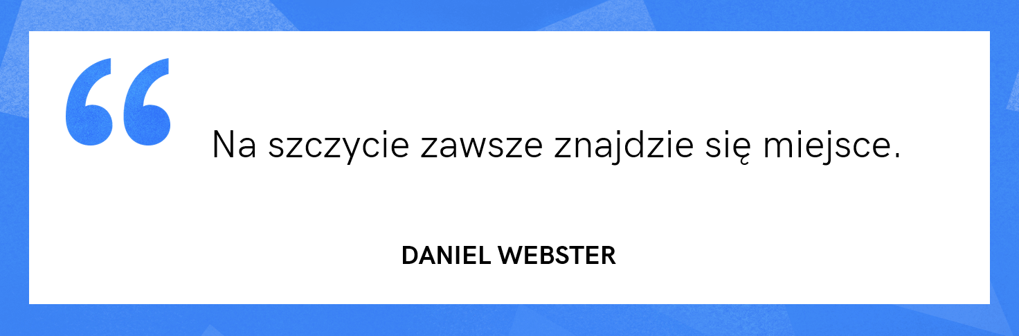 cytat motywacyjny - Daniel Webster