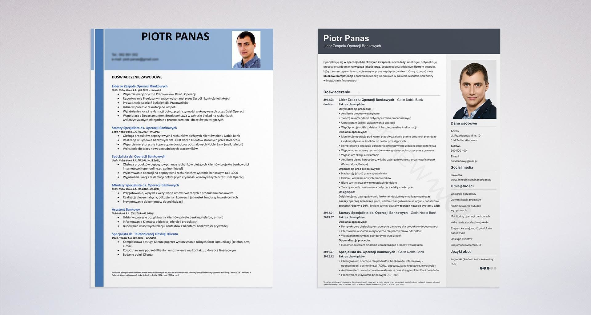 Program do pisania CV