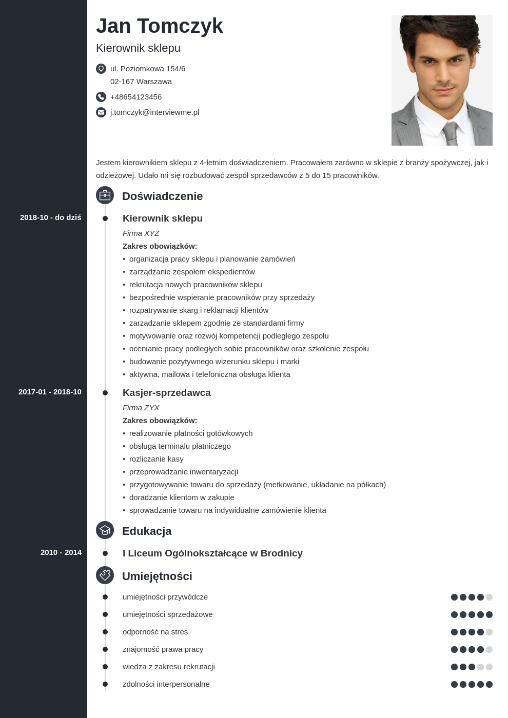 program do pisania cv template concept