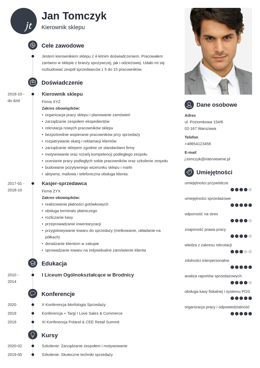 program do pisania cv template primo
