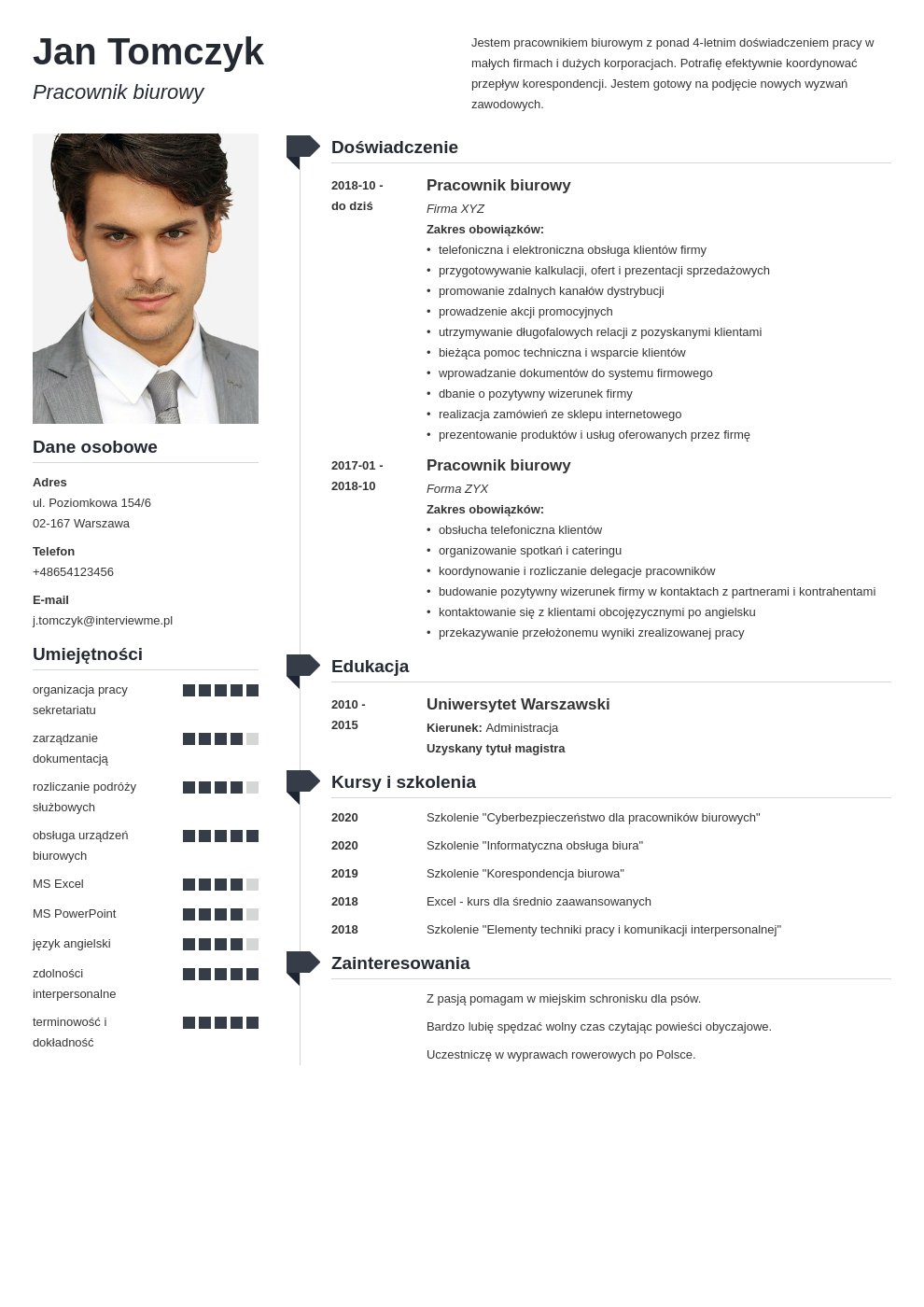 szablony cv word doc template muse