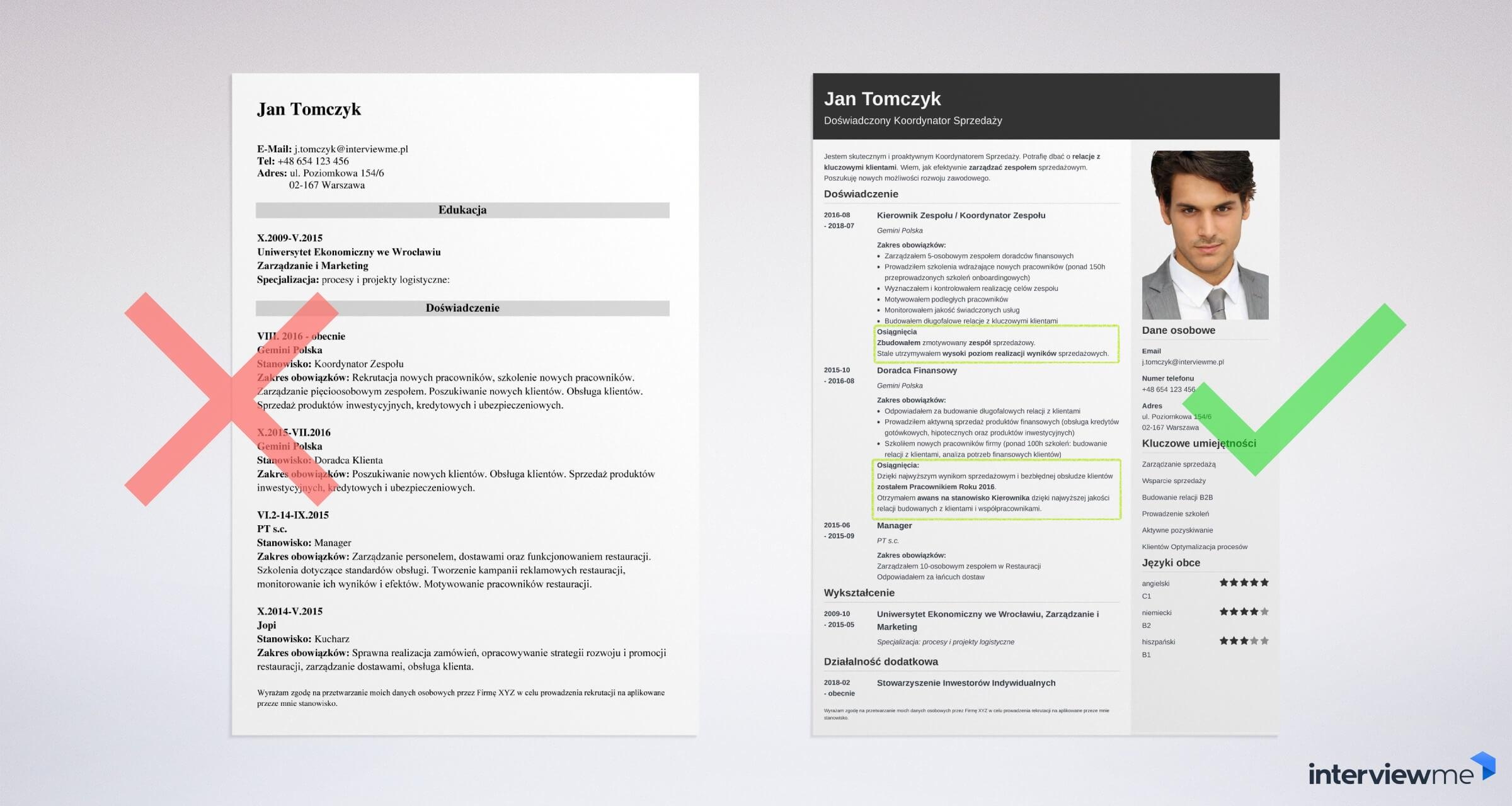 Zasady pisania CV