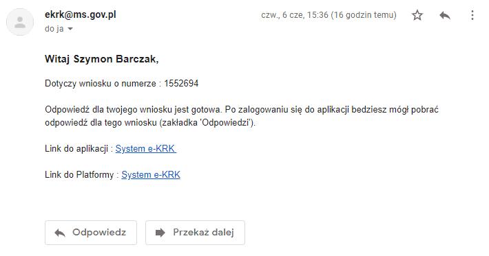 powiadomienie e-mail