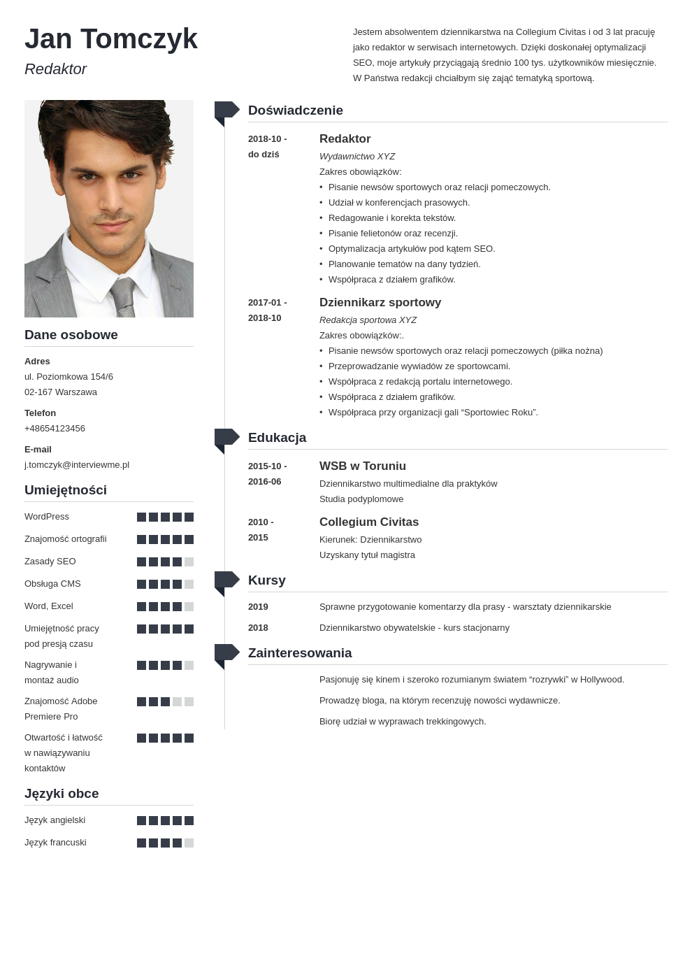 zdjecie do cv template muse