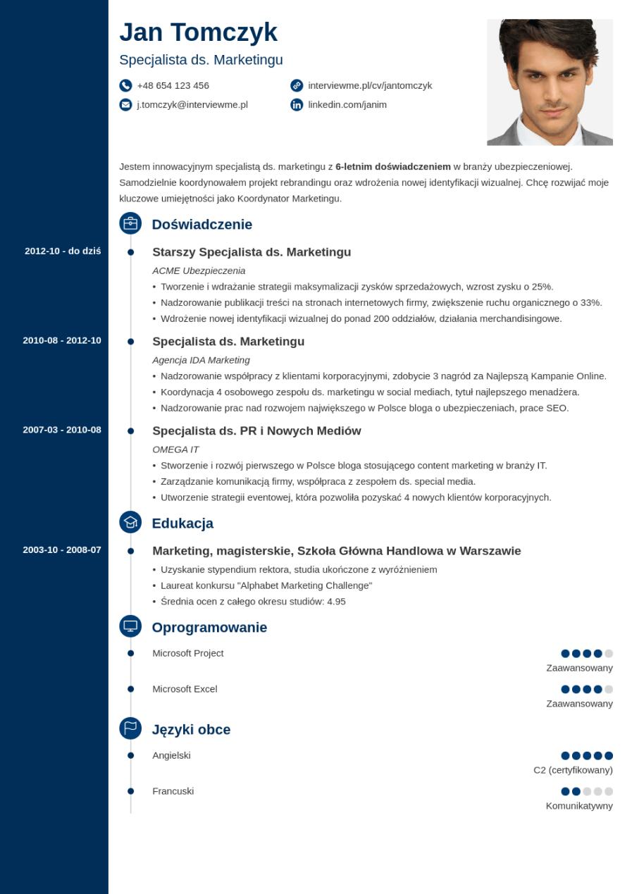 Szablon CV Concept