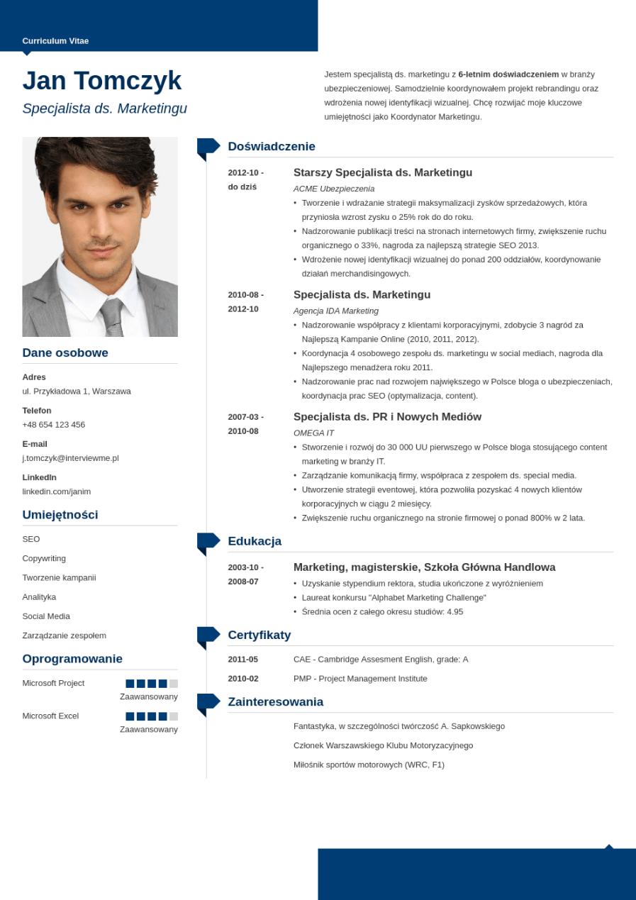 Szablon CV Modern