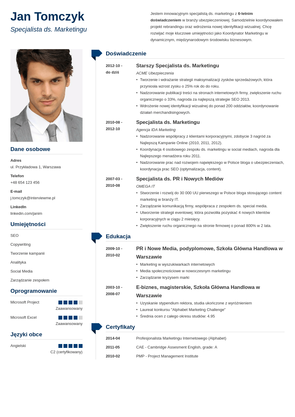 Szablon CV Muse