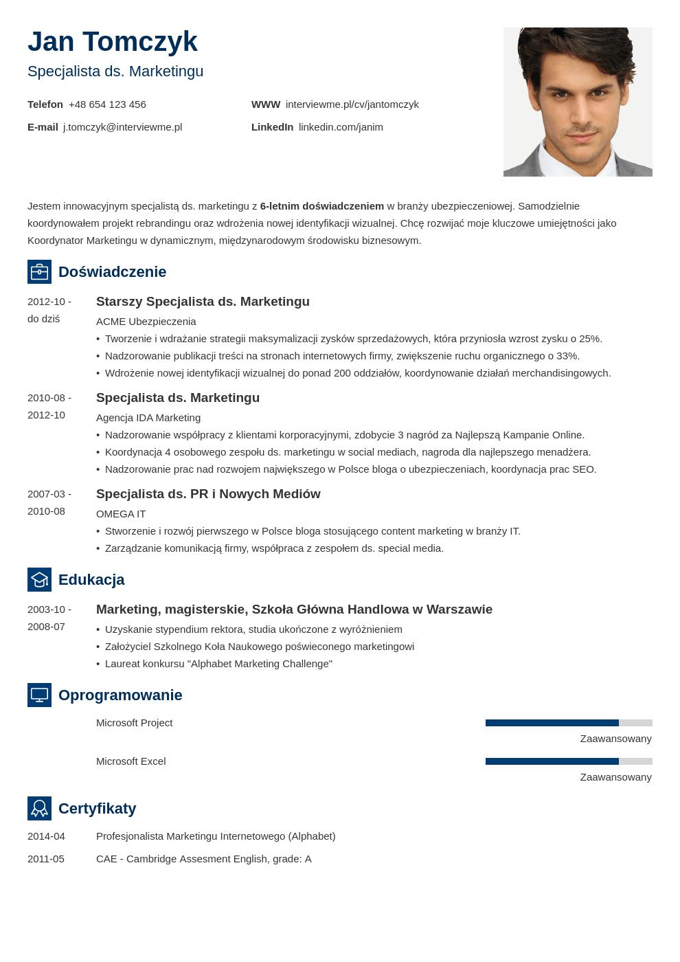 Szablon CV Newcast