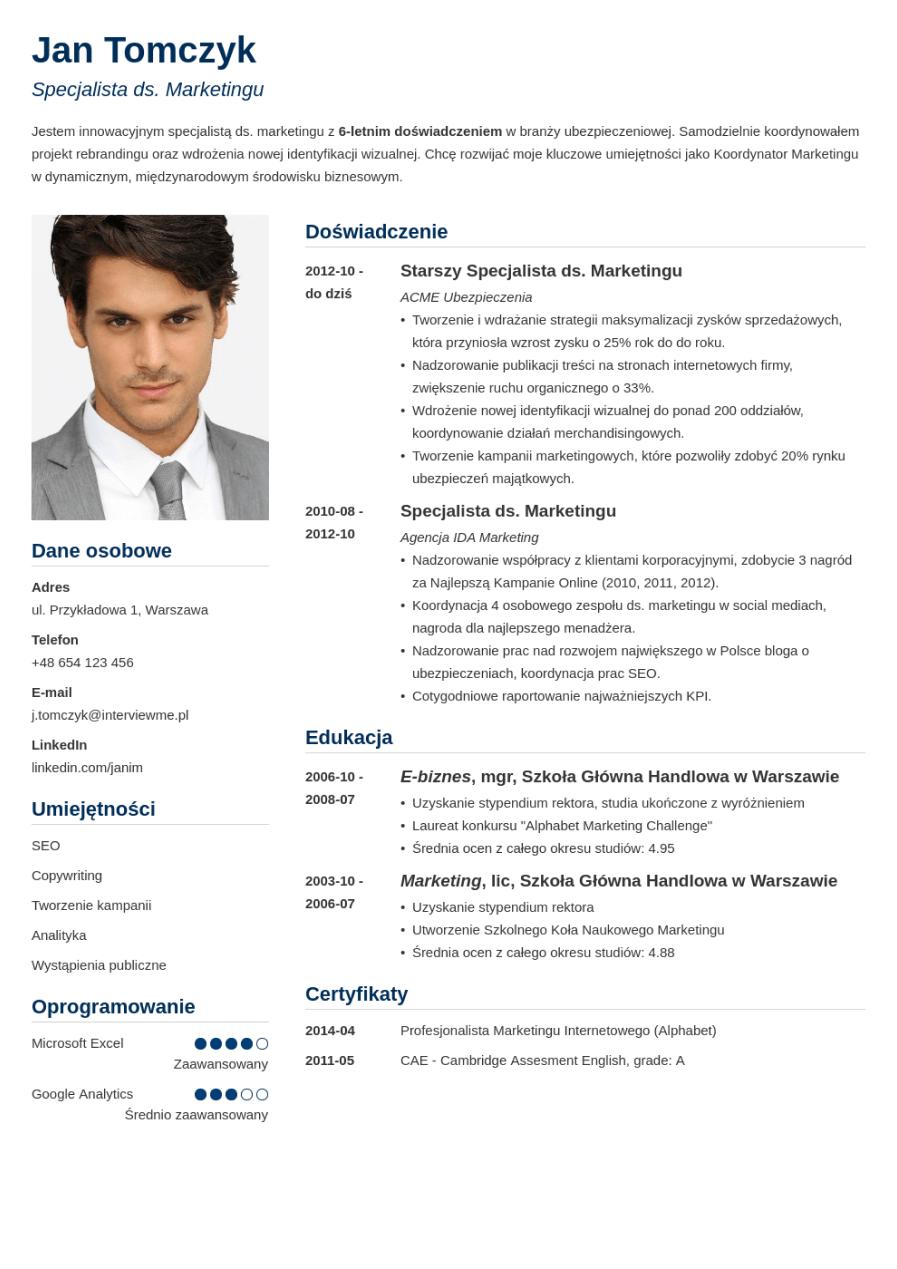 Szablon CV Simple