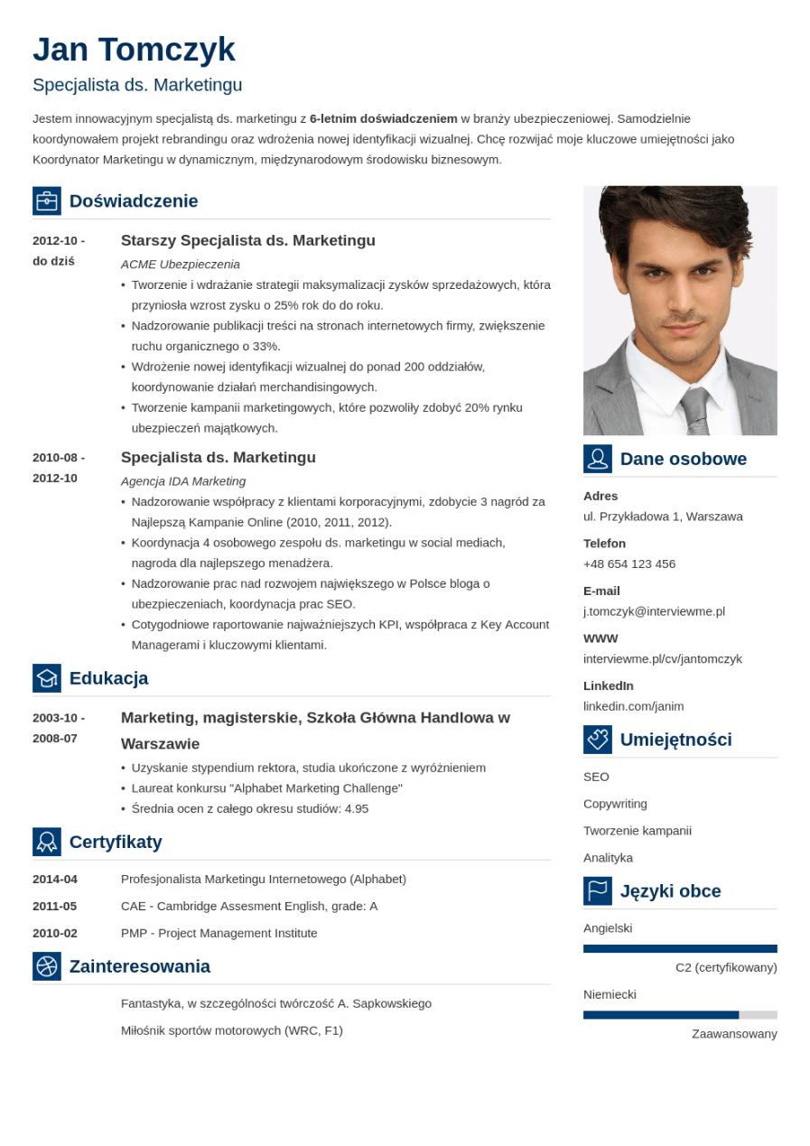 Szablon CV Vibes